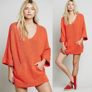 Free People Rolled Sleeves Pocket Tunic